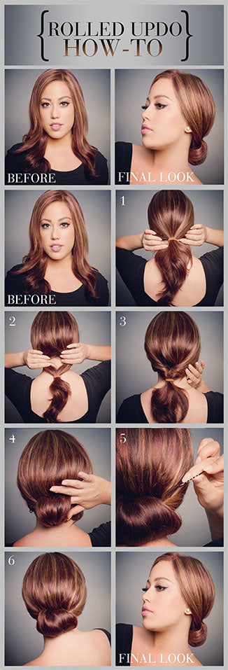 How to Create a Rolled Updo