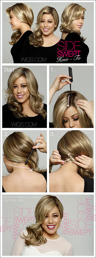 How To Create a Side Swept Look