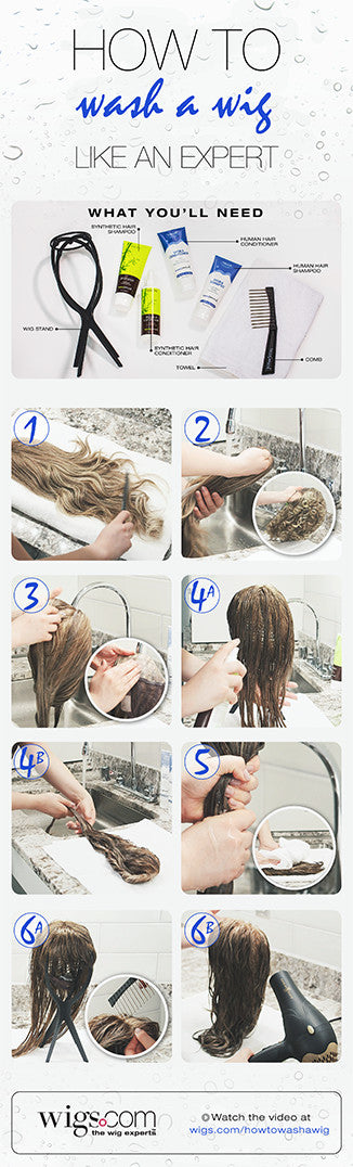 How to wash a wig | Instructions