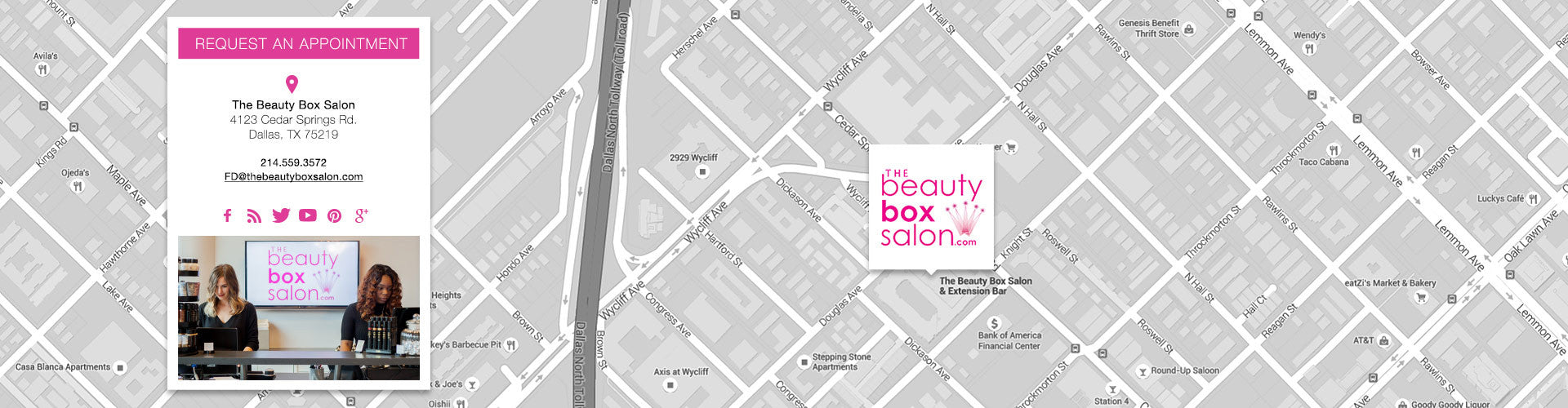 Book an Appointment at The Beauty Box Salon!