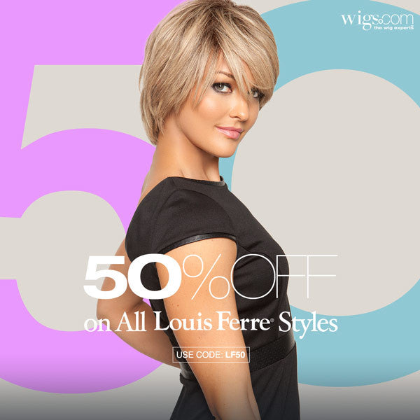 50% OFF All Louis Ferre Wigs & Hairpieces | Use coupon LF50 during checkout