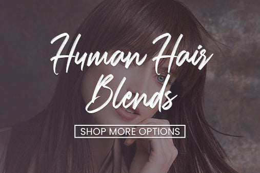 Human hair blended toppers