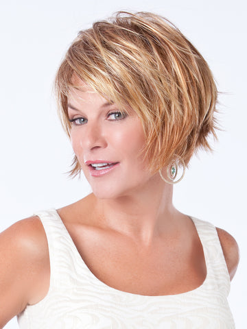Short Blonde Synthetic wig by Toni Brattin