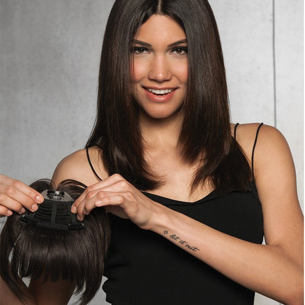 Clip-In Human Hair Fringe Bang by Hairdo