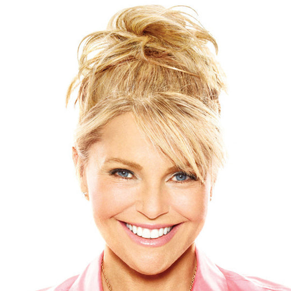 Hairpieces for Senior Women - Christie Brinkley's Natural Tone Hair Wrap