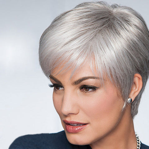 Grey Hair Wigs - Raquel Welch Pixie Wigs