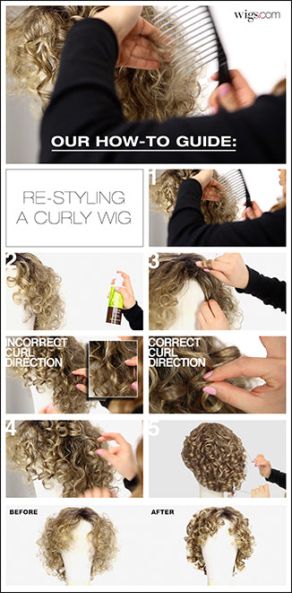 How to restyle Curly Wigs