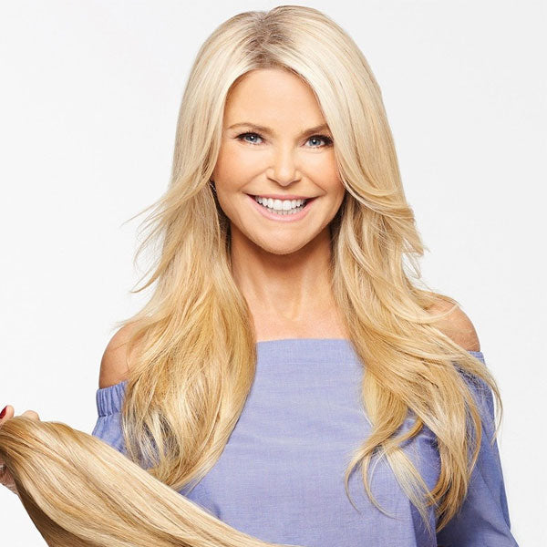 "21"" Straight HF Synthetic Hair Extension by Hair2Wear by Christie Brinkley"