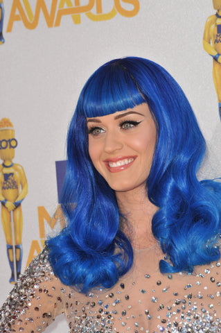 Channel your inner Katy Perry with this blue synthetic hair wig by Forever Young