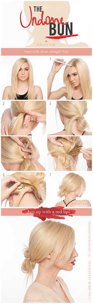 How to create an undone bun look