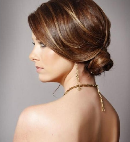 Updo hair style for wigs