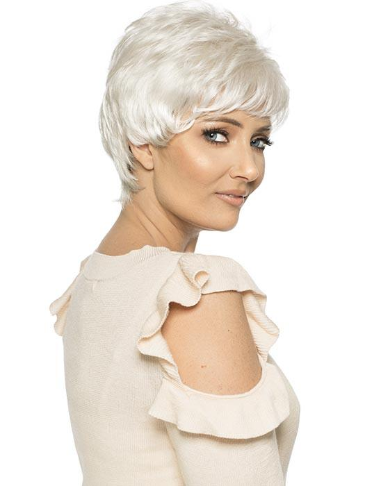 SHORTIE by WIG PRO in WHITE-FOX Pure White