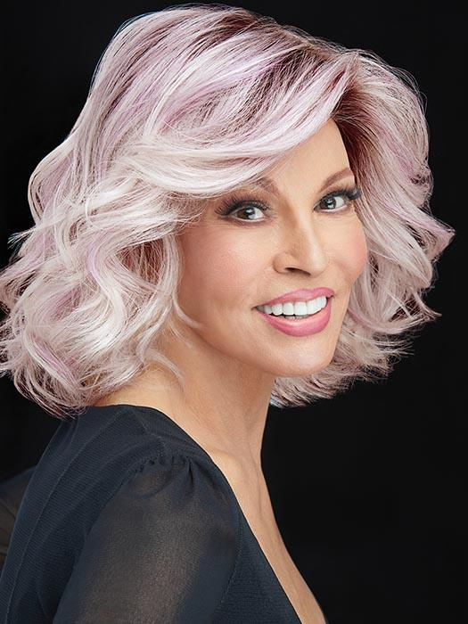 IF YOU DARE by RAQUEL WELCH in ICED-LAVENDER | Light Lavender Tones with a Rooted Top and Light Purple Hues