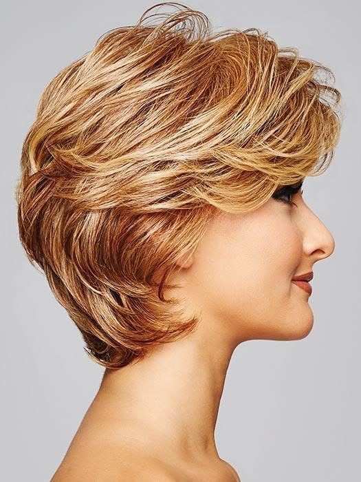 Style it full or close to the head for a subtle yet glamorous effect.