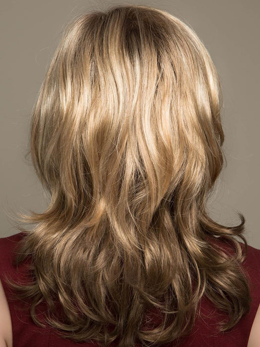 GIGI by JON RENAU in 12FS8 | Light Gold Brown, Light Natural Gold Blonde and Pale Natural Gold-Blonde Blend, Shaded with Medium Brown