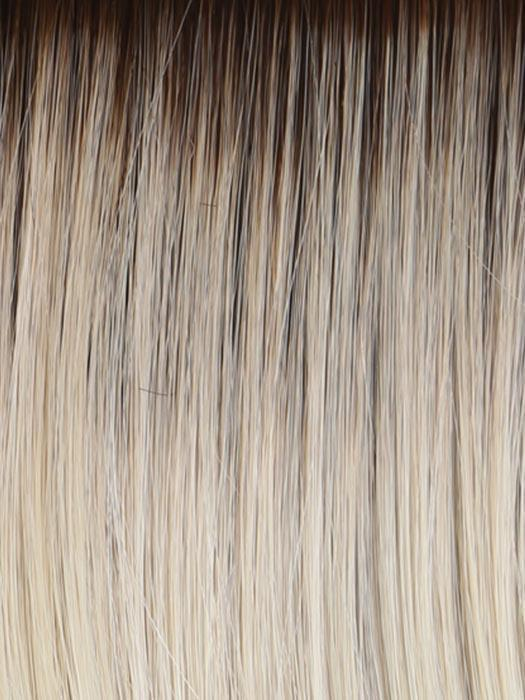 RL613SS | Dark Brown roots with Warm Platinum Blonde