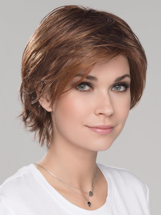 Has just the right length of choppy layers that provide perfect coverage around ears and neckline
