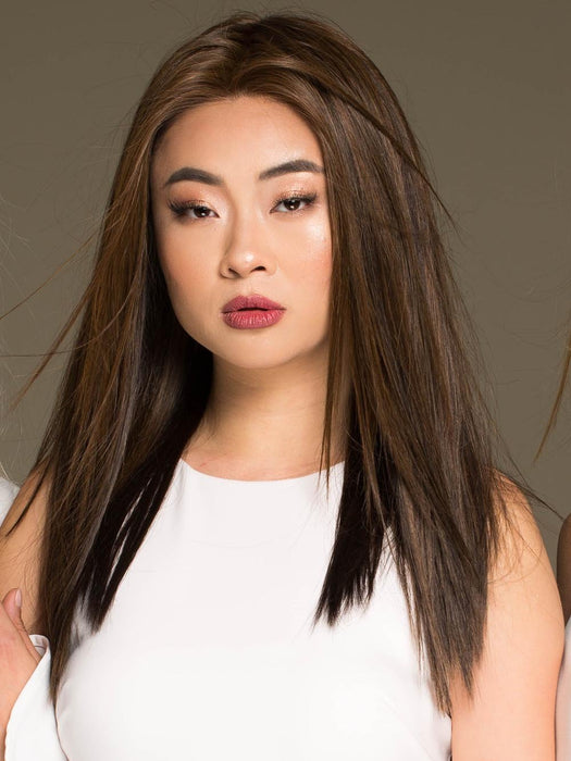 VERONICA by ENVY in MEDIUM BROWN | Medium Brown with natural highlights (Style has been straightened for this look)