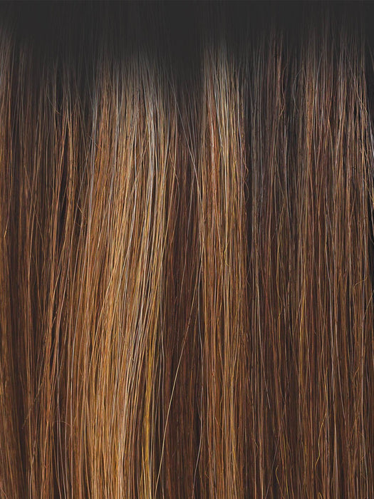 MOLTEN AMBER | Medium Golden Brown, Light Copper Brown, and Medium Golden  Blonde with Dark Brown Roots