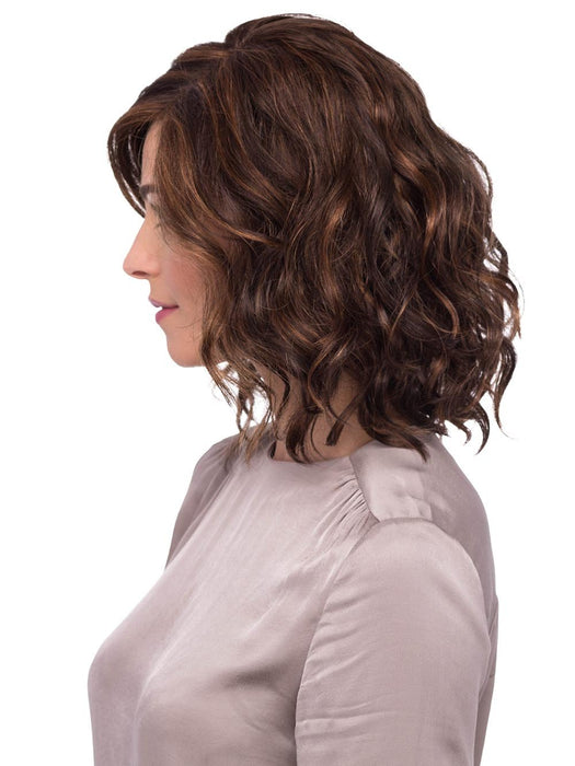 Her lace front creates the most natural hairline, while her monofilament top allows the hair to move freely in any direction