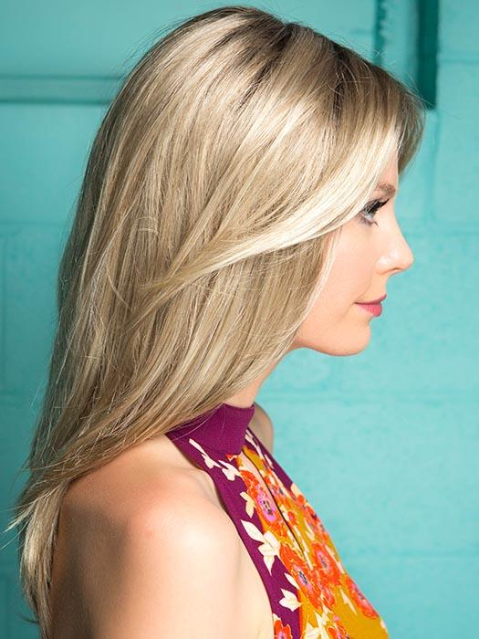 ALESSANDRA by JON RENAU in 22F16S8 VENICE BLONDE | Lt Ash Blonde & Lt Natural Blonde Blend, Shaded w/ Med Brown