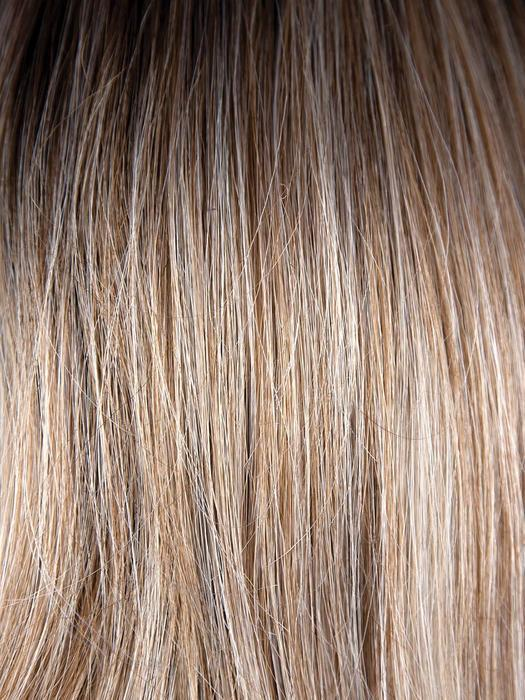 MELTED-MARSHMALLOW | Subtly warm dark sandy blonde blend with medium brown roots and light ash blonde tips and highlights