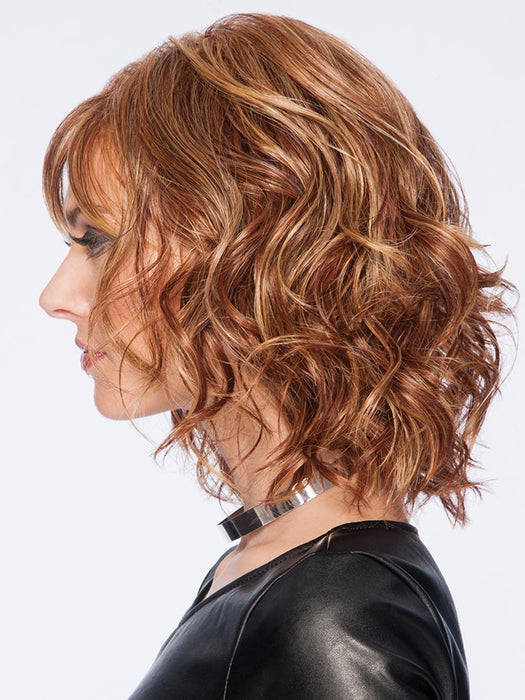 Hairdo's special Tru2Life heat-friendly synthetic hair can be flat ironed, curled or blown dry using thermal styling tools up to 350˚F/ 180˚C. Each hand-blended color is made up of 7-11 different shades, resulting in a natural look that blends with just about anyone's hair color.