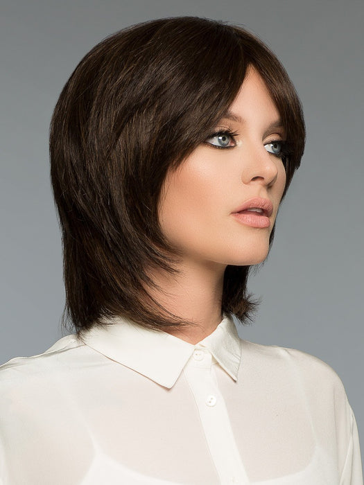 Has natural short style with light razor cut edges that create a simple beauty at its best