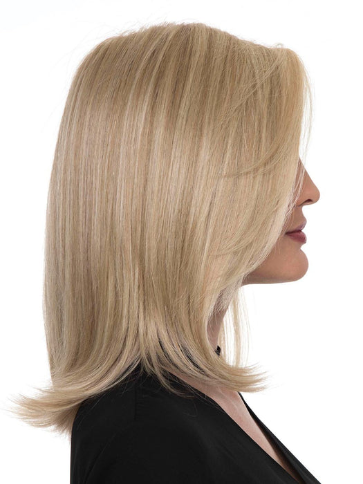 Nothing says class like the Zoey Wig by Envy with her side-swept, shoulder-length locks
