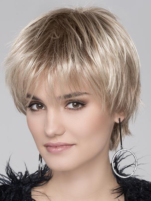START Wig by ELLEN WILLE in PASTEL BLONDE ROOTED | Platinum, Dark Ash Blonde, and Medium Honey Blonde blends With Dark Roots