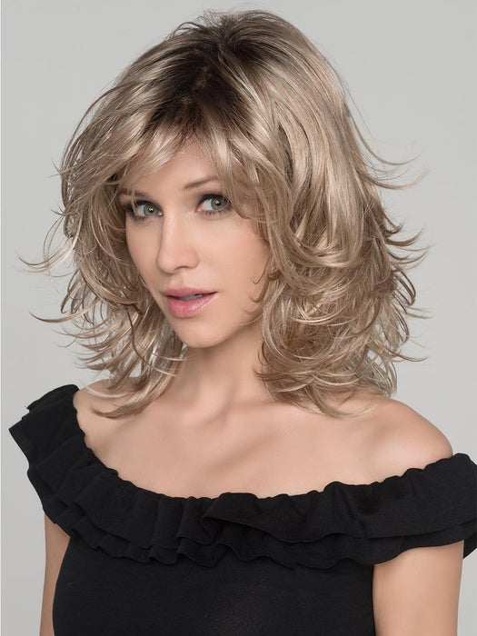The perfect mid-length shag with wispy layers and just the right balance all over