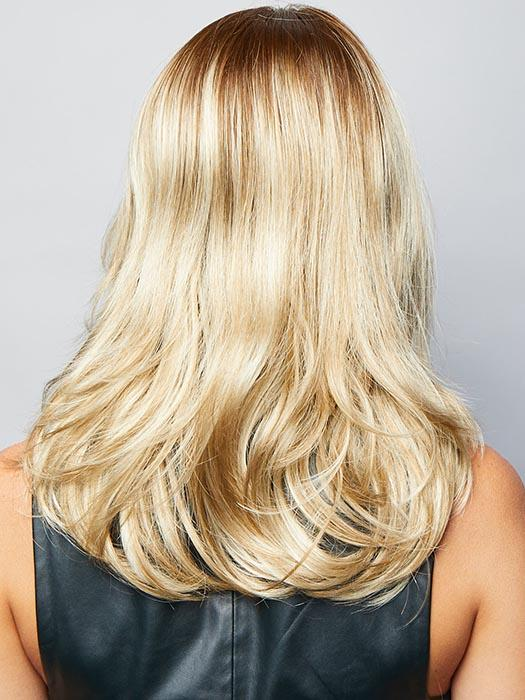 Creamy Toffee-LR | Rooted Dark with Light Platinum Blonde and Light Honey Blonde 50/50 blend