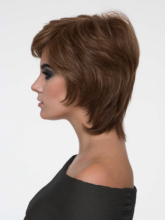 She's made with our exclusive Envyhair heat-friendly fiber blend in a Mono Top construction with hand-tied sides and back