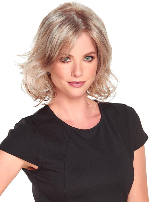 FELICITY Wig by JON RENAU in 101F48T | Soft White Front, Lt Brown w/ 75% Grey Blend w/ Soft White Tips