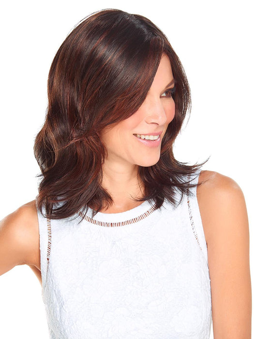 With long layers falling below the shoulder, Minka Wig by Jon Renau is the style that combines romantic length with playful textures