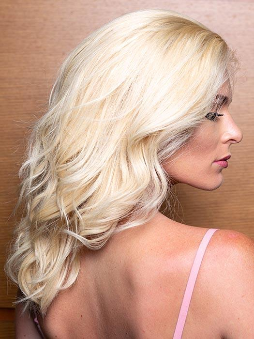 PLF007 by LOUIS FERRE in 22 LIGHT BLONDE | Light Blonde (This piece has been styled and curled)