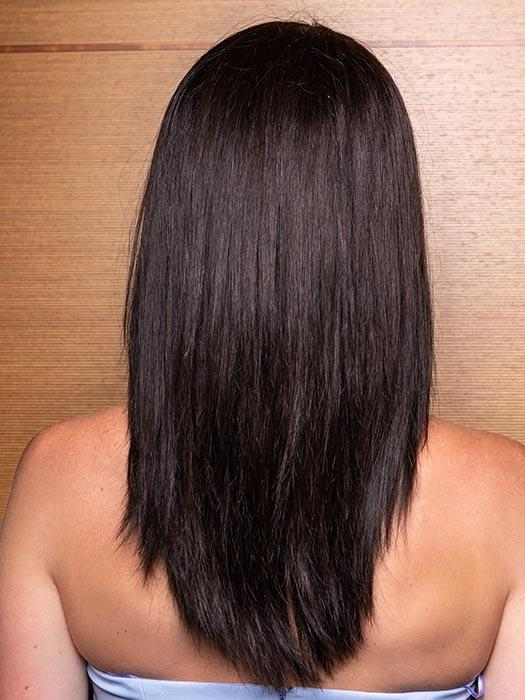 PLATINUM 106 by LOUIS FERRE in 4 CAPPUCCINO | Dark Brown  (This piece has been styled and straightened)