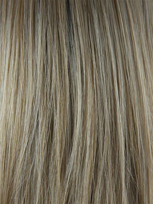 SANDALWOOD H | Rooted Dark with Dark Gold Blonde with Platinum Blonde highlights