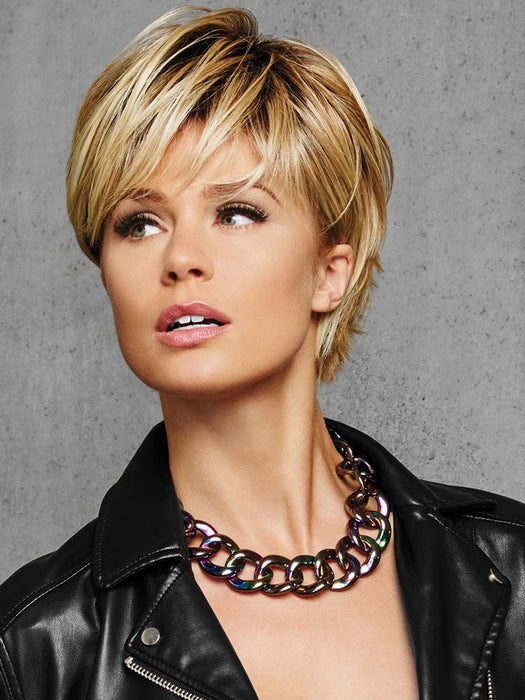 Designed for the active woman who wants to effortlessly change her style and/or color, the TEXTURED FRINGE BOB Wig by Hairdo is perfect for a fun alternative look or a fast, easy answer to a bad hair day