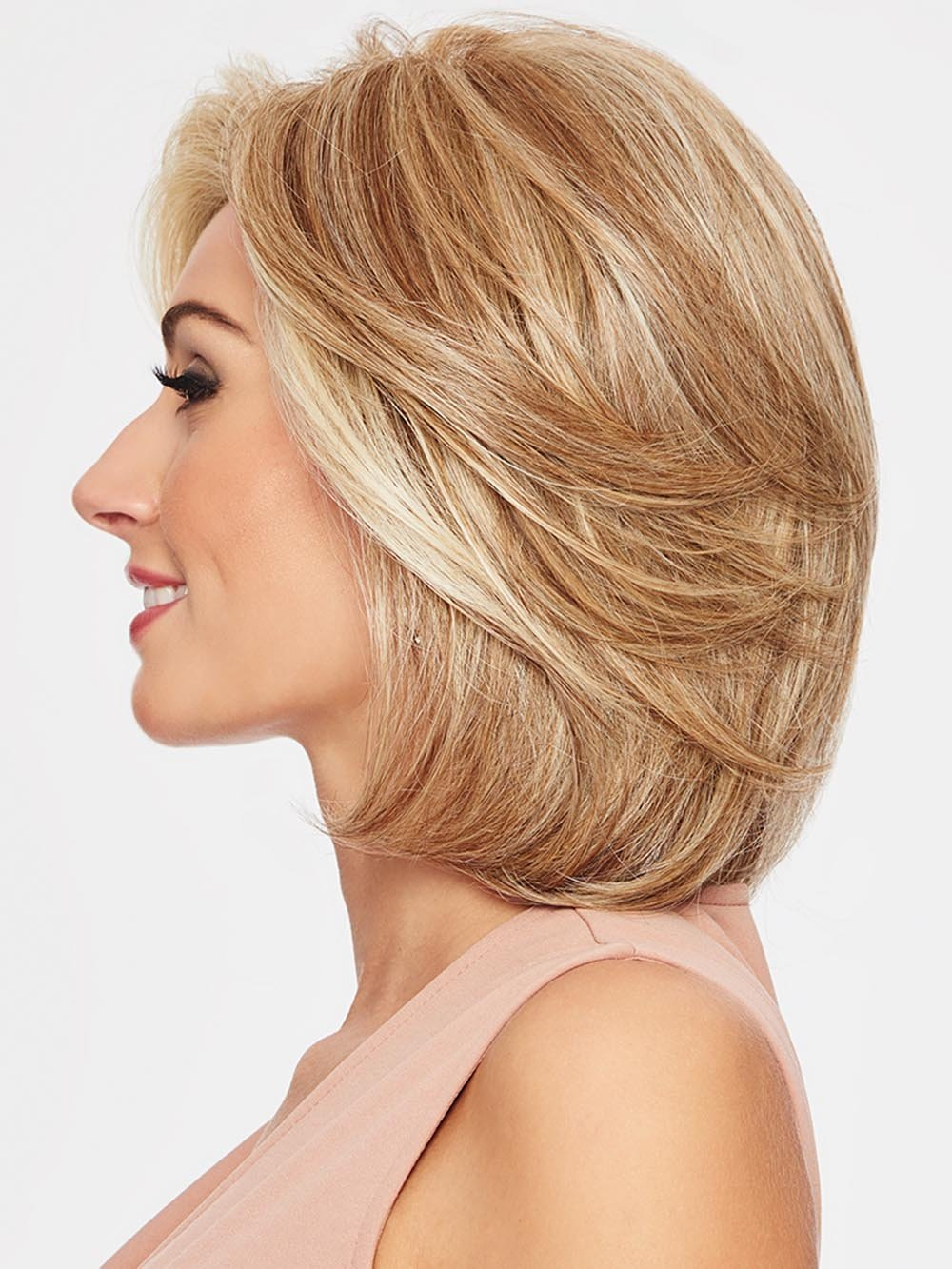 UPSTAGE LARGE by RAQUEL WELCH in RL16/88 PALE GOLDEN HONEY | Dark Natural Blonde Evenly Blended with Pale Golden Blonde