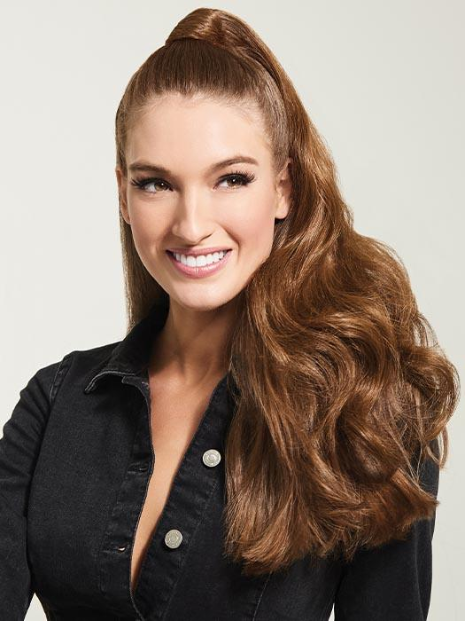 LONG WAVE PONY by HAIRDO in R830 GINGER BROWN | Warm Medium Brown