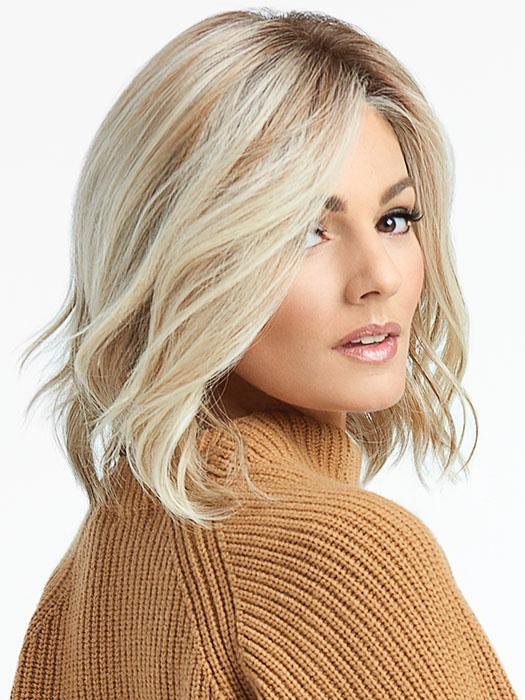 "Simmer Wig by Raquel Welch is this light and airy style is an easy to wear mid-length ""lob"""