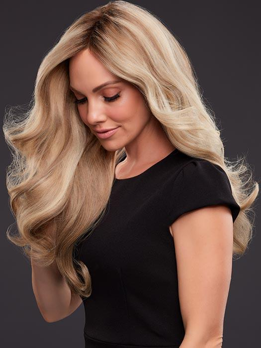 This long wig style is hand-tied, light-density cap and SmartLace front create stunning movement and natural verisimilitude