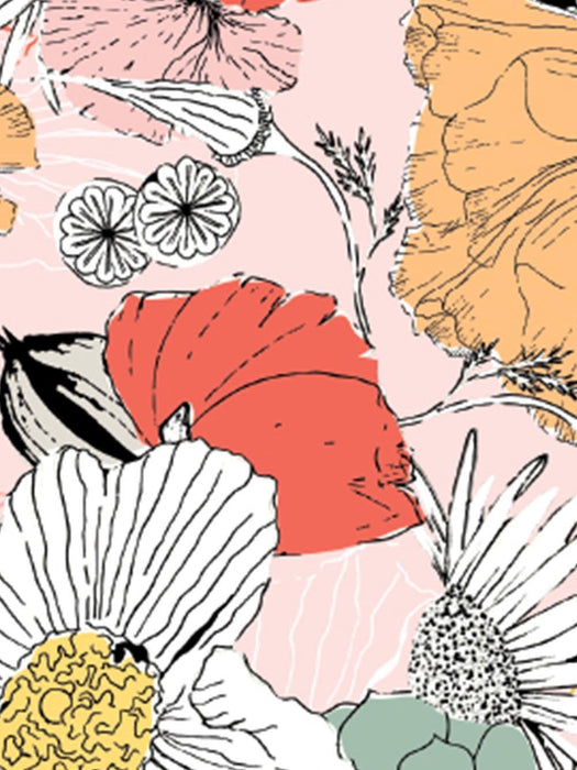 BLOOMS | Celebrating West Coast flora with emotive renderings of golden California poppies, red and paper poppies, coneflowers, and succulents