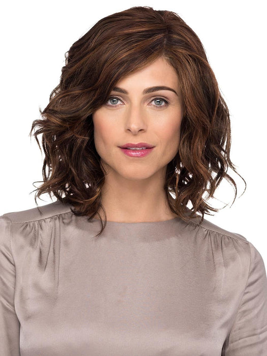 BROOKLYN Wig by ESTETICA in R6/28F | Chestnut Brown w/Red Frost