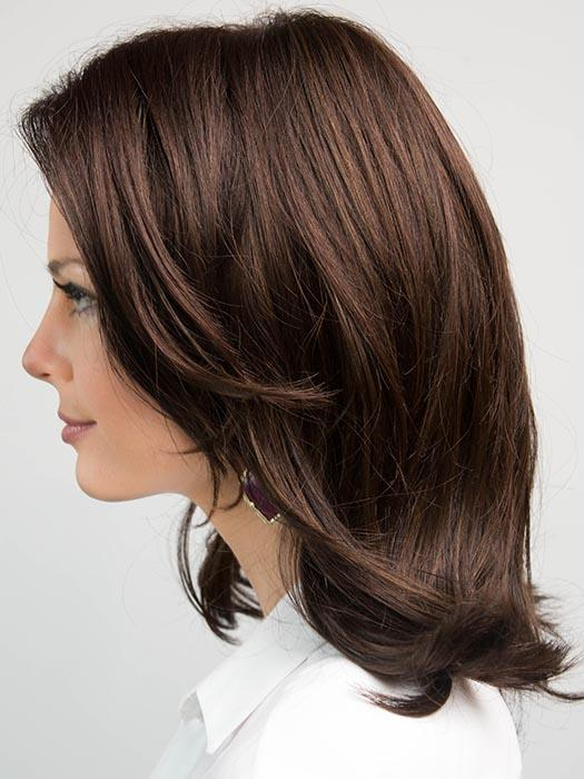FLASH MONO by ELLEN WILLE in DARK CHOCOLATE MIX | Dark Brown base with Light Reddish Brown highlights