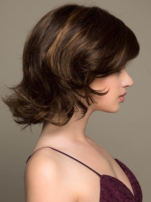 FELICITY by JON RENAU in 6F27 | Brown with Light Red-Gold Blonde Highlights and Tips