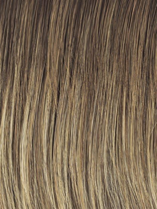 RL12/22SS SHADED CAPPUCCINO | Light Golden Brown Evenly Blended with Cool Platinum Blonde Highlights with Dark Roots
