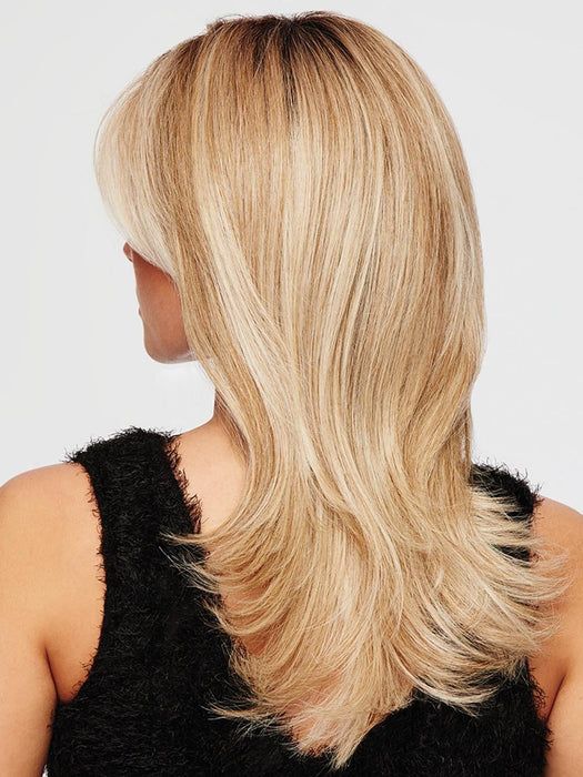 SPOTLIGHT ELITE by RAQUEL WELCH | 20th Anniversary | RL19/23SS SHADED BISCUIT | Light Ash Blonde Evenly Blended with Cool Platinum Blonde with Dark Roots