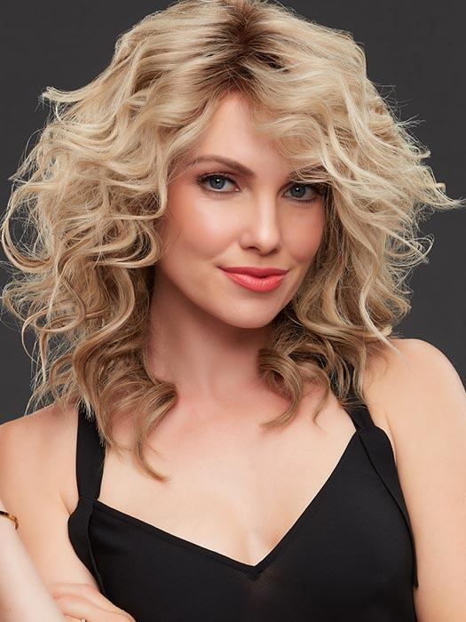JENNIFER by JON RENAU in 12FS8 | Light Gold Brown, Light Natural Gold Blonde and Pale Natural Gold-Blonde Blend, Shaded with Medium Brown